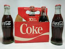 Coca Cola Classic 6.5oz Bottles Unopened in Cardboard Carrier for 10oz Bottles