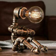 Vintage Table Lamps Retro Water Pipe Robot Desk Lamp Home Deco Industrial Lamp