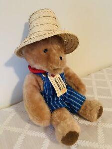 "Vintage Paddington Bear Darkest Peru Plush 13"" Eden Toys 1976 With Tags RARE"
