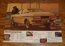 Original 1973 Subaru GL Coupe Sales Sheet Brochure 73
