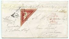 """Cabo de Buena Esperanza 1860 """"soldados Letra"""" con 1d Cape triangular a break."""