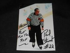 NHL Referee Paul Stewart Signed League Issued 4x6 Autograph Photo  JB10