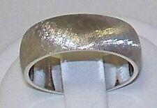 14K white gold wedding band 6mm,4.2 gr,half-round NR