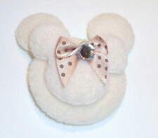 4 Double Layers Padded Mickey Minnie Mouse Appliques with bow and Rhinestone 2""