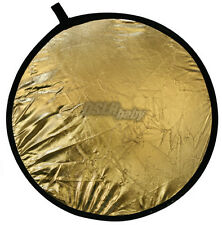 """80cm(32"""") Gold Silver 2 in 1  Photography Reflector Collapsible Photo light Disc"""