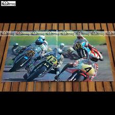 JOHNNY CECOTTO, MICHEL ROUGERIE Esse de Karlskoga 1978 Poster Pilote MOTO #PM395