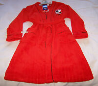 St Kilda Saints AFL Boys EST Red Embroidered Fleece Dressing Gown Size 12 New