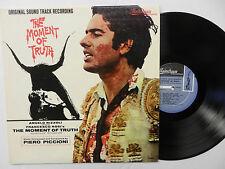 THE MOMENT OF TRUTH soundtrack MONO LP music by PIERO PICCIONI