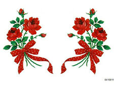 Xl MeYerCorD RePro LonG SteM ReD RoSeS WiTh RiBboN ShaBby WaTerSliDe DeCals