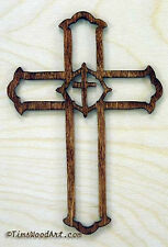 Christian Cross in a Cross, Baltic Birch, Wall Hanging or Ornament Item S4-12
