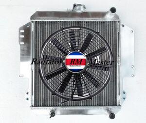 Aluminum Radiator Fit For 1986-1988 Suzuki Samurai 1987 1.3L I4  2Row +Fan