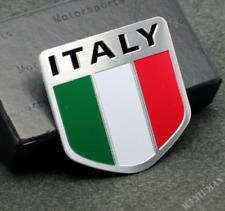 Aluminum Italy Flag Car Auto Trunk Lid Rear Emblem Car Badge Decal Sticker Motor