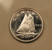 1963 Canada Silver 10 cents. HEAVY CAMEO coin.