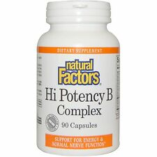 Hi Potency B Complex, 90 Capsules - Natural Factors