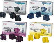 New Genuine Xerox 8560 Black Color 4PK Ink Cartridges Phaser 8560 Phaser 8560DN