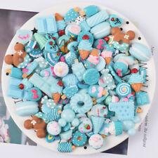 50Pcs 3D Cute Resin Flatback Cabochon Food Candy Scrapbooking DIY Hair Jewelry