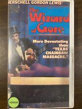 Wizard Of Gore VHS Tape Cut Big Box Horror Movie Rare Herschell Gordon Lewis