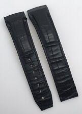 Authentic New Omega De Ville X2 Black Alligator 21mm Watch Strap 98000223 OEM