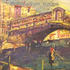 Ölbild Gemälde Holz Rialto brücke Venedig o. Rahmen oil painting bridge Italy