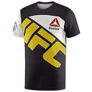 Reebok Men's UFC Jersey Custom T-Shirt Crew Neck Short Sleeve Polyester NEW