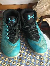 Under Armour Boys Shoes Kids Tennis Sneakers High Tops Size 5 Turquoise Guc