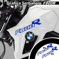 GRAFICA CARENA ADESIVO SERBATOIO BMW F800R F800 R CARENE STICKERS BLU ADESIVI