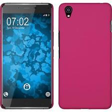Hardcase für OnePlus OnePlus X Hülle pink gummiert + 2 Schutzfolien