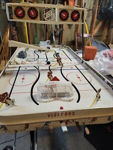 Vtg Electric Play Table Hockey Game Eagle Toys  NHL Toronto vs Montreal
