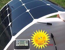 100W Mono SUNPOWER Semi-Flexible Solar Panel Car Boat Yacht Camper Battery