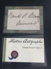 2015 HISTORIC AUTOGRAPHS CIVIL WAR APPOMATTOX AUTO General FRANCIS P. BLAIR JR
