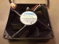 NMB 80x25 Brushless 3110KL-04W-B19 Silent 80mm square fan 3pin 13db dell 4E537