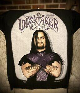 1996 Mega Print The Undertaker WWF Licensed Tombstone Shirt Size L Large Rare