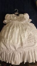 Baptism dress 12 months. With bonnet, socks, shoes, and headband.