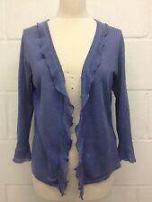 L.K.Bennett Women's blue lavender 100% Linen Cardigan size M