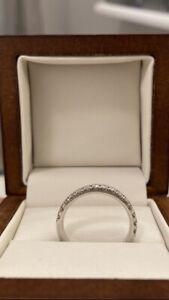 womens diamond wedding band blue nile platinum size 7