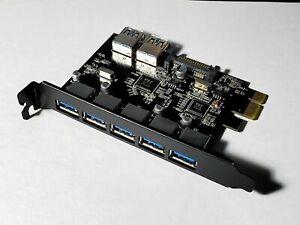 TIERGRADE USB 3.0 PCI-E Card, 7 Port - 5 External 2 Internal, SATA Power