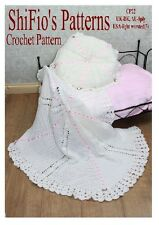 CROCHET PATTERN for  BABY SHAWL & PILLOW CHRISTENING #22 by ShiFio's Patterns