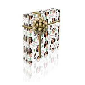 Kim Kardashian Personalised Christmas Gift Wrap With 2 Tags - ADD A NAME!