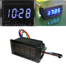 DC 12V Digital LED RGB Dashboard Auto Clock Time for Car Motorcycle Waterproof