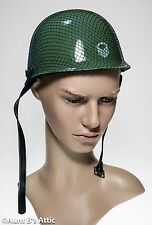 Army Helmet Green Plastic Child's Play Dress Up Costume Accessory Hat
