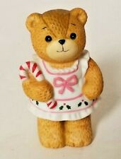 Lucy & Me Christmas Girl Bear With Candy Cane Lucy Rigg Enesco 1986