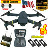 Drone X Pro WIFI FPV 1080P HD Camera 3 Batteries Foldable Selfie RC Quadcopter~
