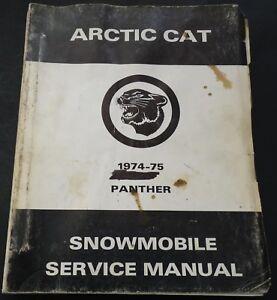 HUGE 1974-75 ARCTIC CAT PANTHER SERVICE & PARTS MANUAL  (380)
