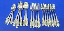 19 pieces Oneida ARBOR - AMERICAN HARMONY Glossy Beaded Stainless Flatware Lot