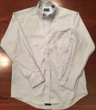 Club Room Mens Size Large L Button-Down Pocketed Dress Shirt