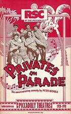 "Denis Quilley ""PRIVATES ON PARADE"" Simon Jones / Ian Gelder 1978 London Playbill"