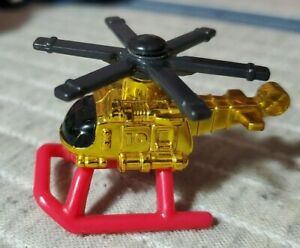 Vintage 1996 Micro Machines Exploration Sea GOLD HELICOPTER by Galoob