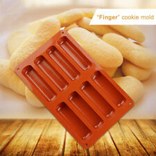 AU_ Silicone Cake Classic Collection finger Non Stick 8 Forms Eclair Baking Mold