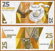 Aruba, 25 florin, 1993, P-12, UNC > rattlesnake florin