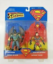 Kenner FUTURE BATMAN & SOLAR SUIT SUPERMAN Action Figures DC Comics 1996